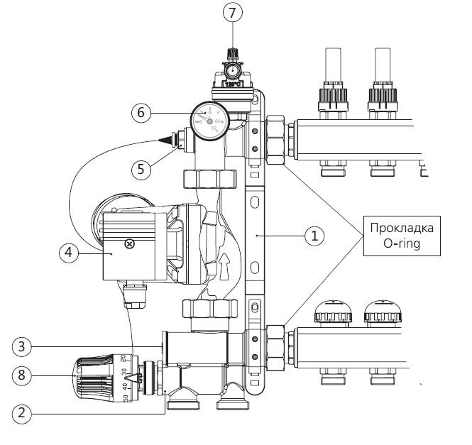 Насосно-смесительный узел JH1036