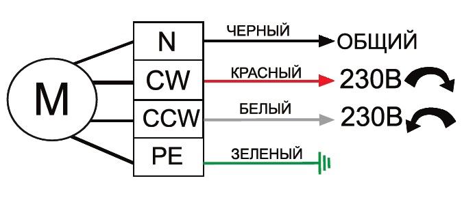 Электрическая схема подключения сервопривода