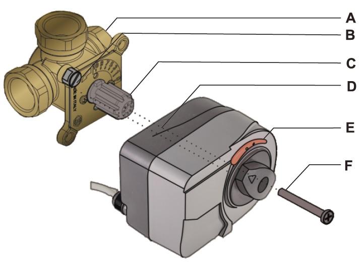 Установка привода на клапан