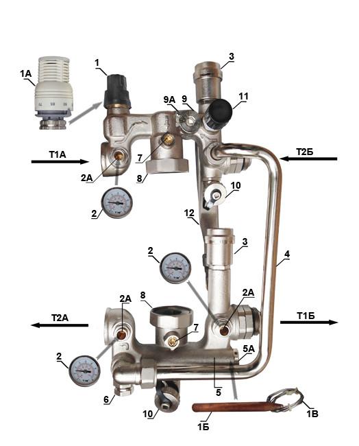 Насосно-смесительный узел JH1033