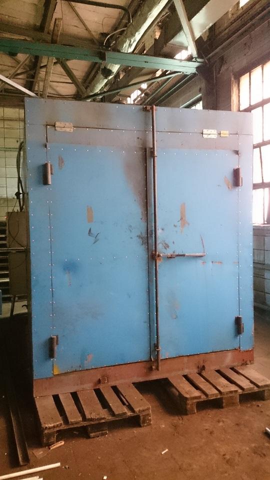 Камера прогрева радиатора отопления для спекания частиц напыления