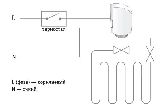 Схема подключения сервопривода